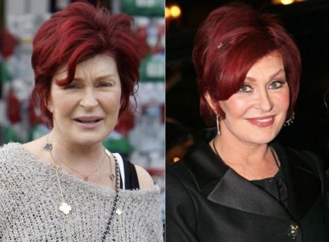 Шэрон Осборн. Мама Келли также выглядит без макияжа неузнаваемой.