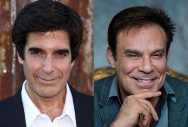 Дэвид Копперфилд и Ефим Шифрин (61 год). Оба мужчины явно уважают спорт, а вот иллюзионист немного переборщил с краской для волос.