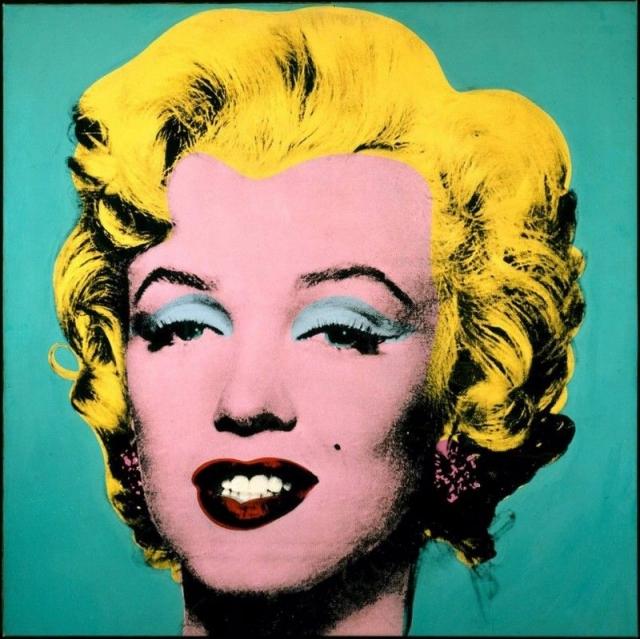 """$80 000 000. """"Бирюзовая Мэрилин"""" , Энди Уорхол, написана в 1964 г."""