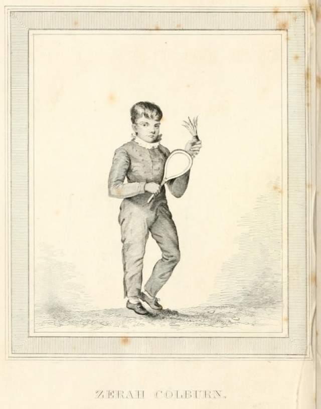 Зера Колберн. 1 сентября 1804 года в семье обычного американского столяра родился необычный мальчик: в пять лет он сидел в отцовской лавке и, играя, вслух приговаривал таблицу умножения, которой отец его никогда не учил.