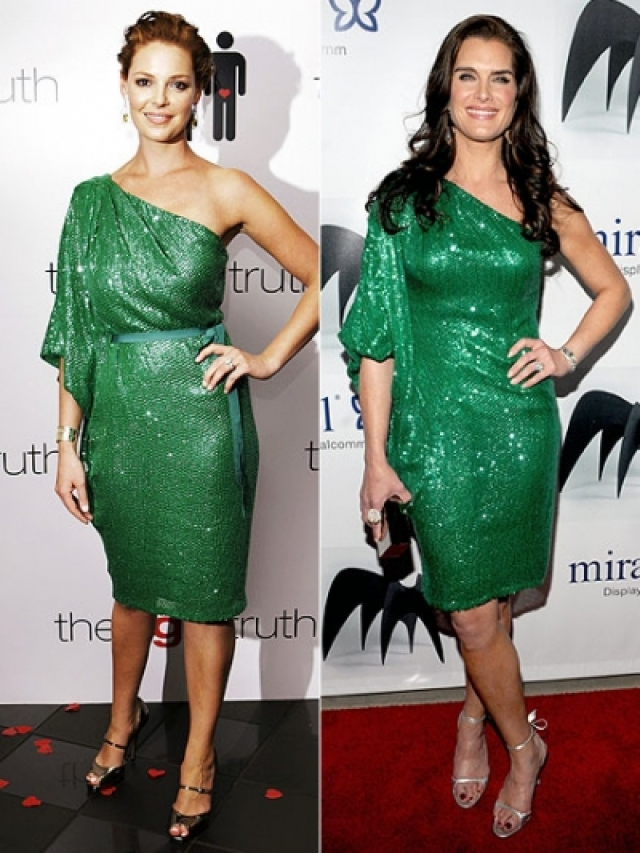 Кетрин Хейгл и Брук Шилдс предпочли зеленый, правда, увы, в один и тот же вечер.