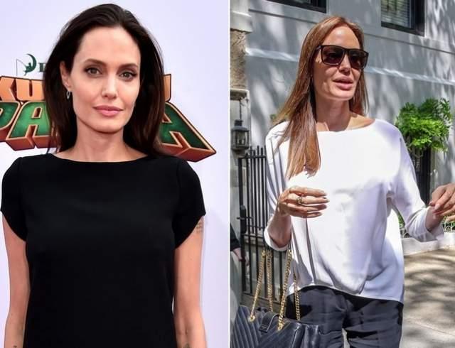Анджелина Джоли, 43 года. Разлука с супругом Брэдом Питтом пагубно сказалась на фигуре женщины.