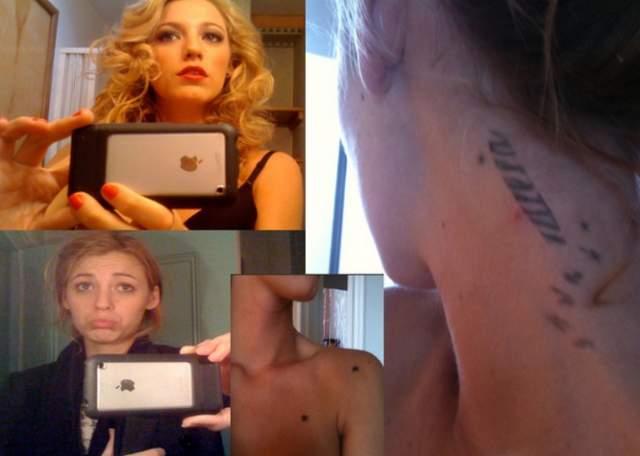 В 2011 году после скандальной утечки фотографий обнаженной Блейк Лайвли. Дело в том, что незадолго до этого актриса обвинила одного хакера, что он выложил в Сеть не ее фото, и он решил над ней поглумиться. В доказательство своей правоты он опубликовал дополнительно два десятка фотографий Лайвли, где отчетливо видно было татуировки на плече и груди.