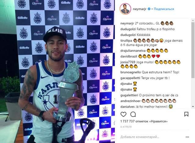 11 место: Неймар. @neymarjr, 92,2 млн. Не по годам знаменитый представитель бразильской футбольной школы искренне влюблен в этот спорта. А также в крупные гонорары и самого себя.