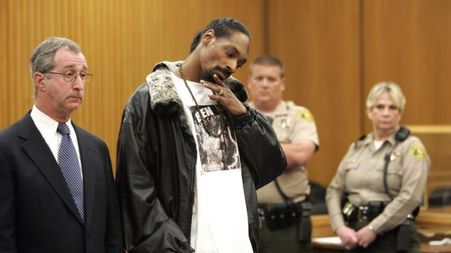 Снуп Догг. Рэпер вместе с охранником проходил по делу об убийстве одного из членов враждебной бандитской группировки.