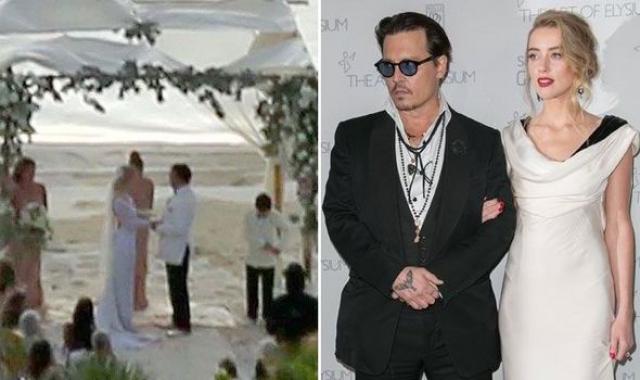 Джонни Депп и Эмбер Херд. Пара сыграла секретную свадьбу на собственном острове на Багамах, но даже такая секретность не дала положительных результатов.