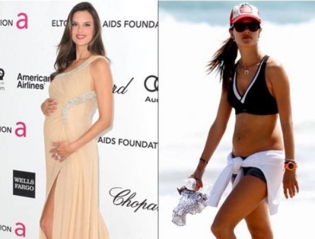 Алессандра Амбросио. Модель демонстрировала великолепную форму спустя всего лишь два месяца после родов.