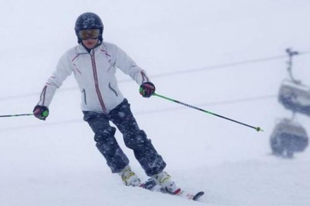 """Горными лыжами Ванесса занимается с четырех лет.""""Люди удивляются, когда видят меня на лыжах. Из 89 спортсменок, принявших участие, девушка смогла финишировать в обоих спусках, заняв последнее, 67-е, место и проиграв победителю 50,10 секунды."""