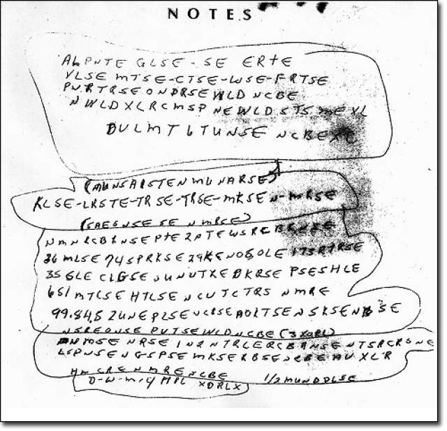 Глава криптоаналитического подразделения ФБР Дэн Уолсен сказал, что в записках может быть зашифрована информация, критически важная для восстановления обстоятельств гибели МакКормика. Но ни один специалист ФБР так и не смог подобрать ключ к шифру.