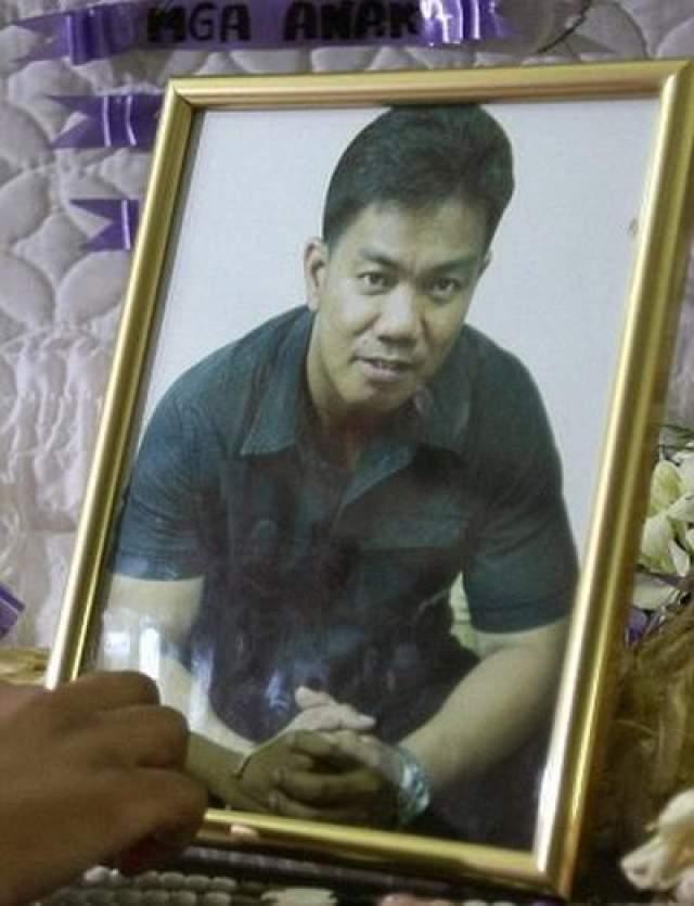Снимок делал филиппинский советник Рейнальдо Дагса, которому убийца решил отомстить за то, что тот посодействовал его аресту за кражу автомобиля.