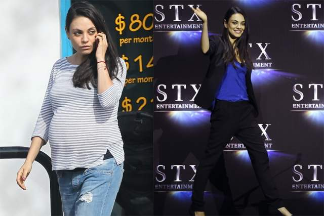 """Мила Кунис, 35 лет. Голливудская актриса украинского происхождения знает толк в похудении. В 2010 году Мила похудела ради съемок в фильме """"Черный лебедь"""" до 41 кг."""