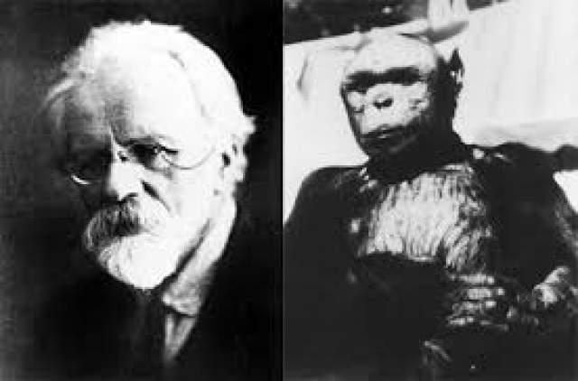 В конце 1920-х годов в СССР полным ходом шли опыты по скрещиванию шимпанзе и человека, которые проводил Илья Иванов. Находились даже женщины-добровольцы, согласные на осеменение спермой обезьян .