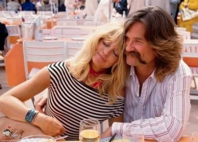 Курт Расселл и Голди Хоун, 35 лет вместе.