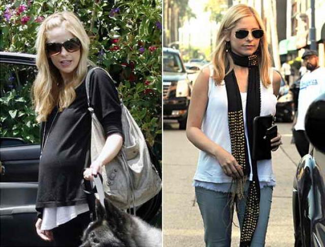 Сара Мишель Геллар. 19 сентября актриса родила ребенка, а уже 16 октября вернулась к прежней форме.