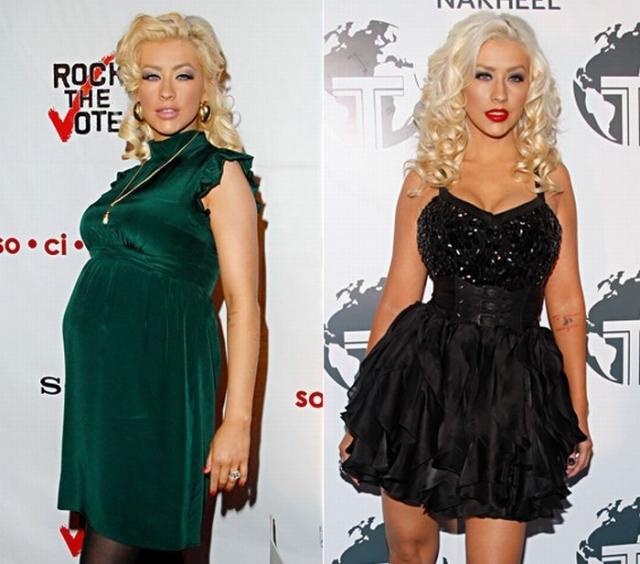 Кристина Агилера. Певица потратила на похудение немного больше времени - семь месяцев.