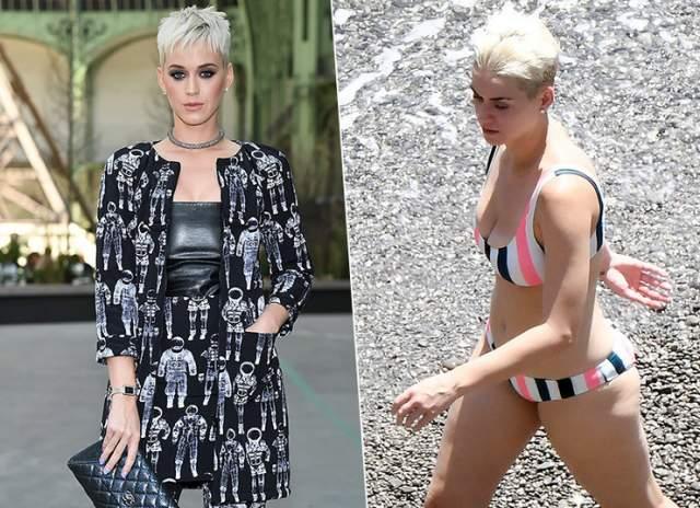 Пока все следили за тем, как певица переживала весной 2017 года расставание с Орландо Блумом, звезда успела не только сменить несколько причесок, но и набрать несколько лишних килограммов.
