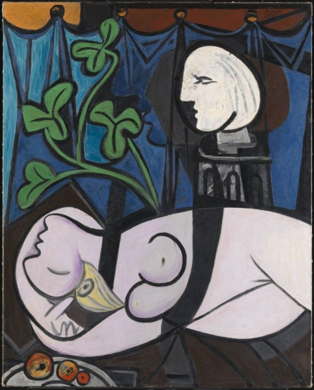 """$106 500 000. """"Обнаженная, зеленые листья и бюст"""" , Пабло Пикассо, 1932 год."""