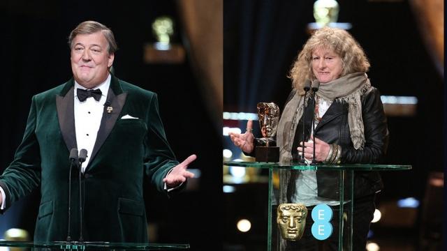 Стивен Фрай. На аккаунт актера в Twitter было подписано более 10 миллионов человек, когда на его странице разразился скандал: во время вручения премии BAFTA актер сыронизировал над выходом одной из лауреаток, дизайнера по костюмам Дженни Бивен.