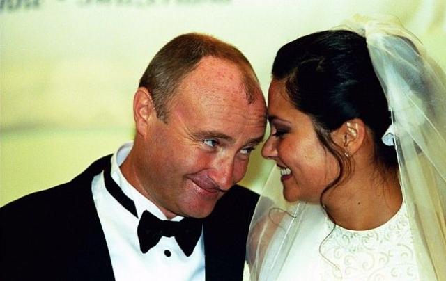 Фил Коллинз и Арианна Кевей. Фил и Арианна поженились в 1999 году.