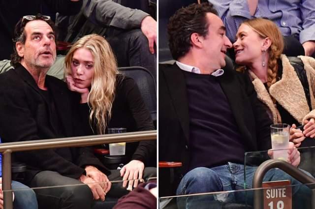 Мэри-Кейт и Эшли Олсен устроили двойное свидание на матче Никс с Оливье Саркози и Ричардом Сачсем.