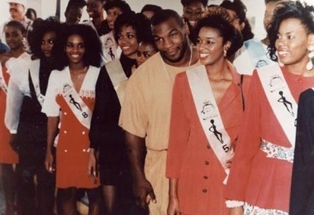 """Майк Тайсон. В 1991 году """"Железный Майк"""" посетил конкурс красоты """"Мисс Черная Америка"""", где познакомился с одной из участниц - некой Дезире Вашингтон."""