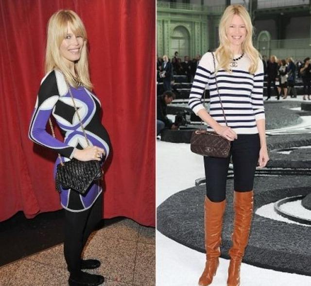 Клаудиа Шиффер. В мае 2010 года модель родила своего третьего ребенка, а к октябрю и вовсе вернулась к модельному бизнесу.