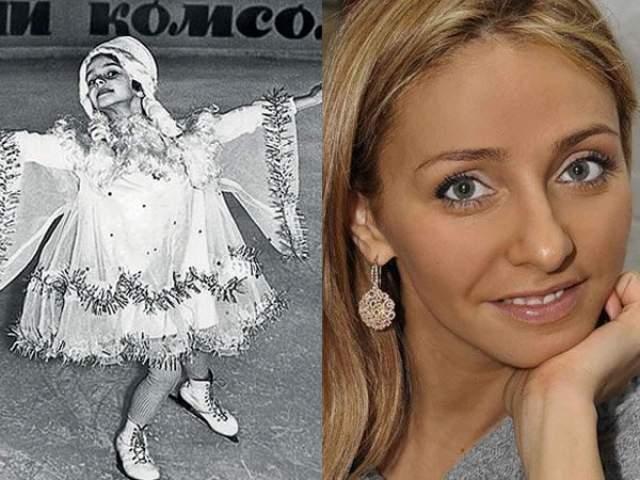 Татьяна Навка. Будущая фигуристка впервые вышла на лед в возрасте пяти лет.