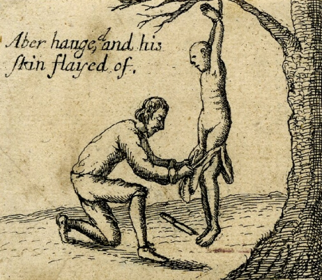 Свежевание. Удаление кожи с живого человека. Часто данный вид казни был призван еще и разжечь страх, так как, как правило, производился в общественном месте у всех на виду.