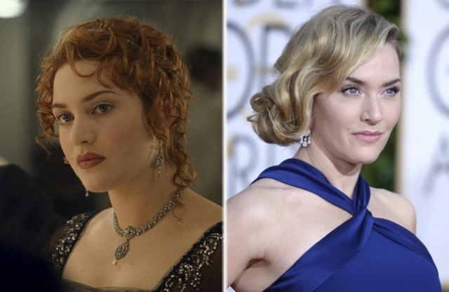 Кейт Уинслет. Актриса много снимается, является мамой троих детей, а с партнером по фильму, Лео Ди Каприо, до сих пор сохранила близкие дружеские отношения.