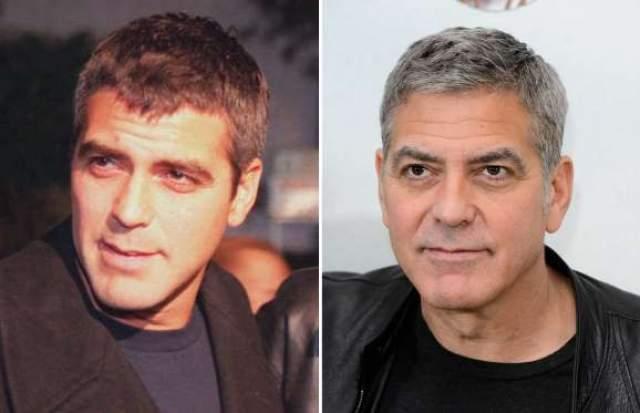 """Джордж Клуни. 56 лет. Актер, продюсер, режиссер, сценарист. Последняя роль в кино - """"Финансовый монстр"""" (2016). В 2017 выступил режиссером криминального триллера """"Субурбикон"""". В 2014 году женился на Амаль Аламуддин, которая на 16 лет младше него."""