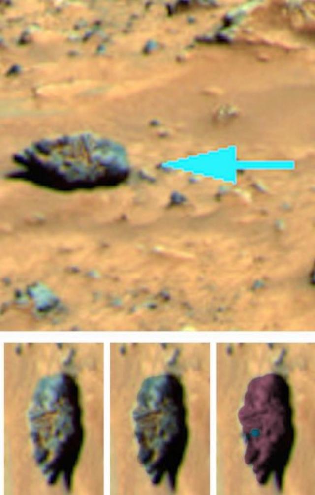 Виртуальному археологу Скотту Уорингу удалось обнаружить загадочный объект на Марсе на снимках, переданных на Землю почти 15 лет назад.
