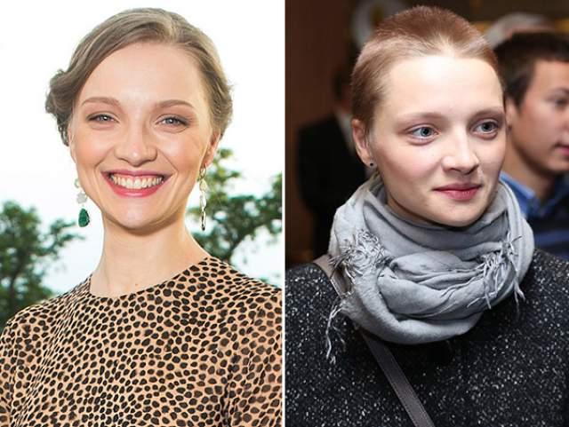 Для съемок в том же проекте кардинально изменила прическу и ее коллега - Екатерина Вилкова .