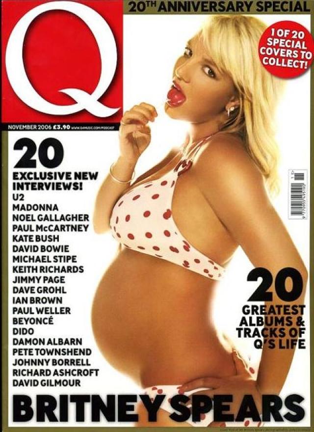 А вот обложка Q Magazine более вызывающей.