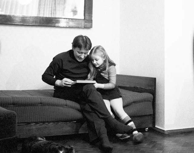 Андрей Миронов с дочерью Марией.