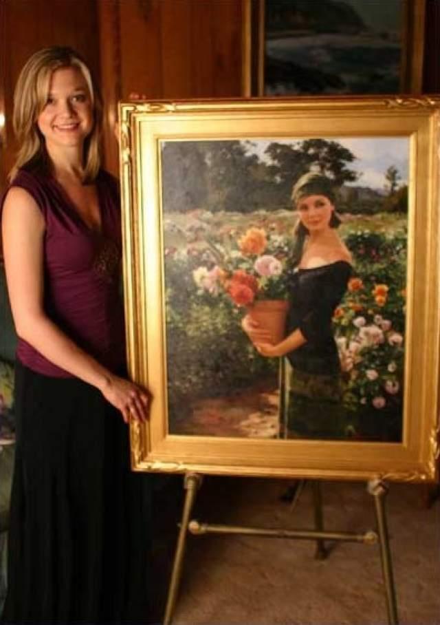 А одна из ее картин даже висит в кабинете самого Стивена Спилберга.