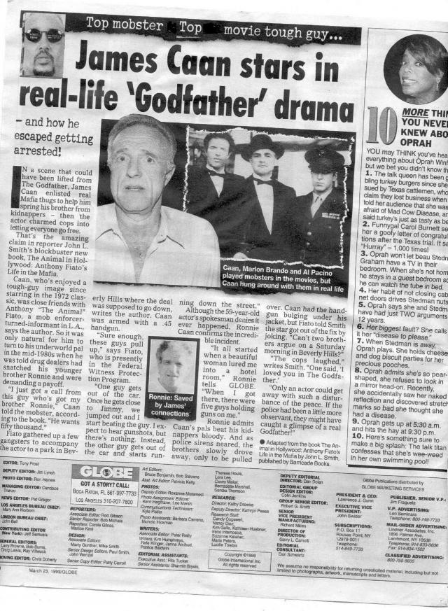 """В 2011 году он даже попытался внести деньги за одного из своих мафиозных знакомцев, уличного бойца Энди """"Муша"""". Также он пытался поспособствовать освобождению криминального авторитета Эндрю Руссо."""