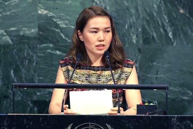Алия Шагиева, 21 год. Дочь президента Киргизии Алмазбека Атамбаева называют киргизской принцессой.