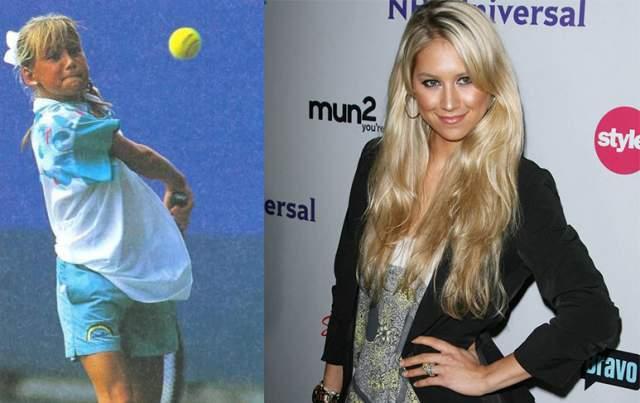 Анна Курникова. Уже в 10 лет Анна получила предложение стипендии теннисной академии Ника Боллетьери, расположенной в США.