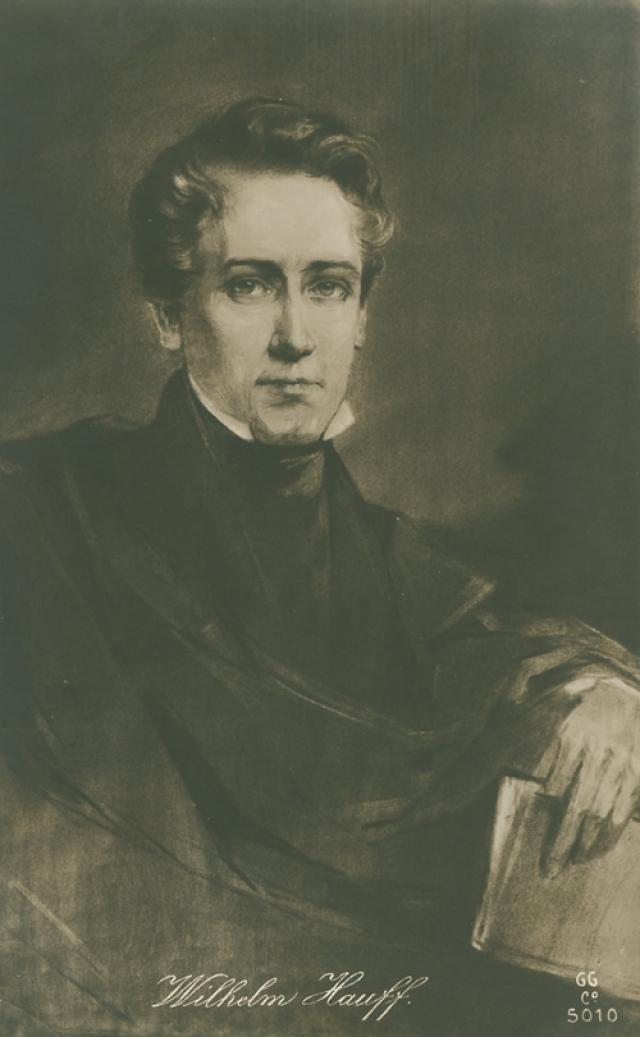 """Вильгельм Гауф (1802-1827). Немецкий сказочник - автор таких произведений как """"Карлик Нос"""", """"История о калифе-аисте"""", """"История о маленьком Муке""""."""