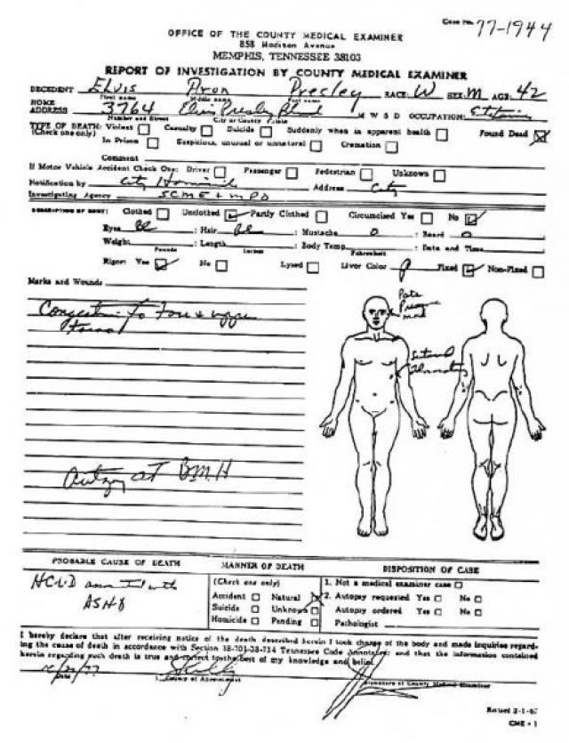 Поскольку расследование было полузасекречено, до сих пор высказываются различные версии события, вплоть до того, что Элвис все еще жив.