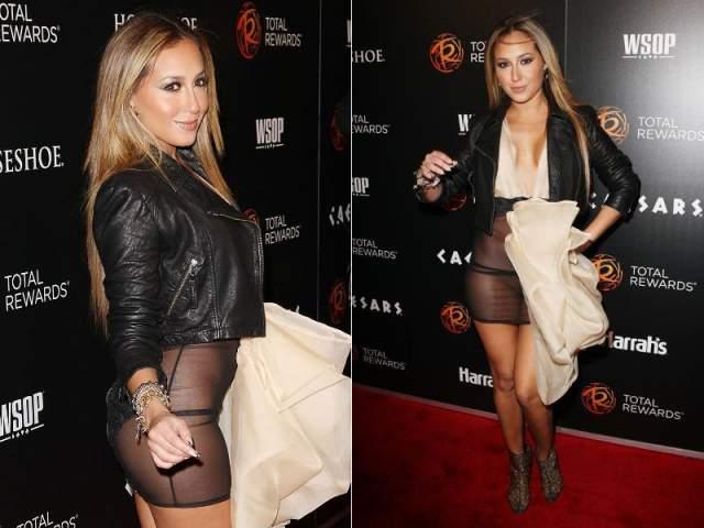 Одежду Адриены Бейлон на Escape To Total Awards Event и вовсе сложно назвать платьем.